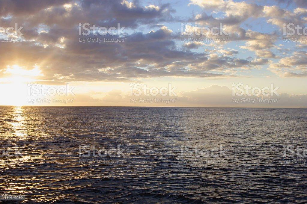 Ocean Sunrises royalty-free stock photo