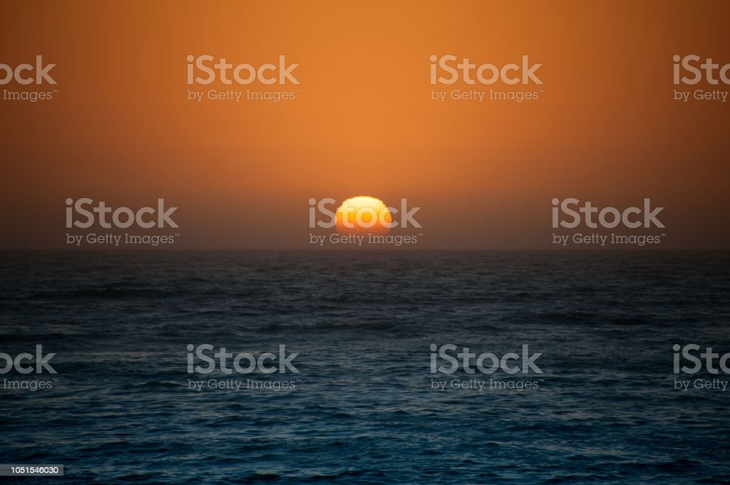 Ocean Sunset stock photo