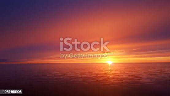Beautiful sunset out on the ocean