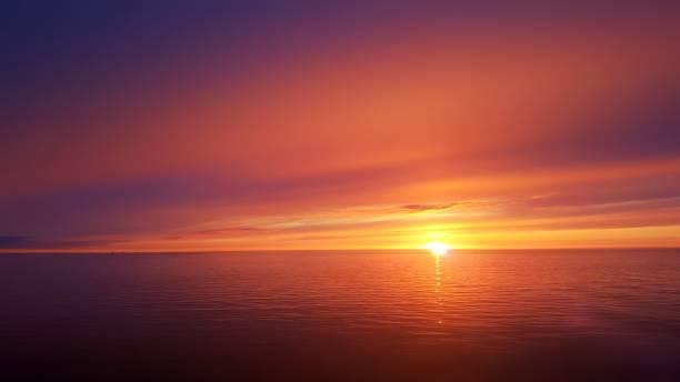 закат океана - sunset стоковые фото и изображения