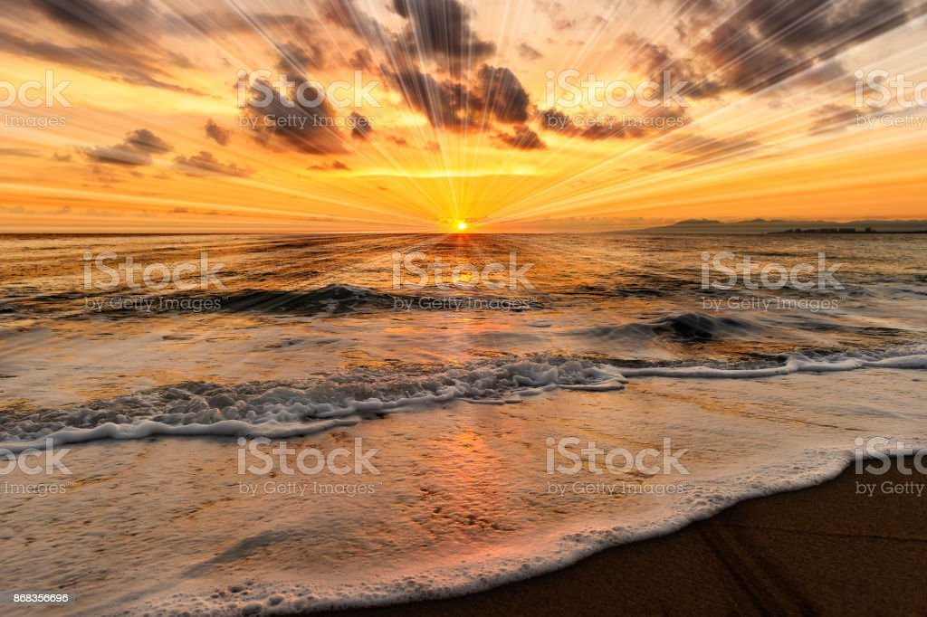 Meer bei Sonnenuntergang – Foto