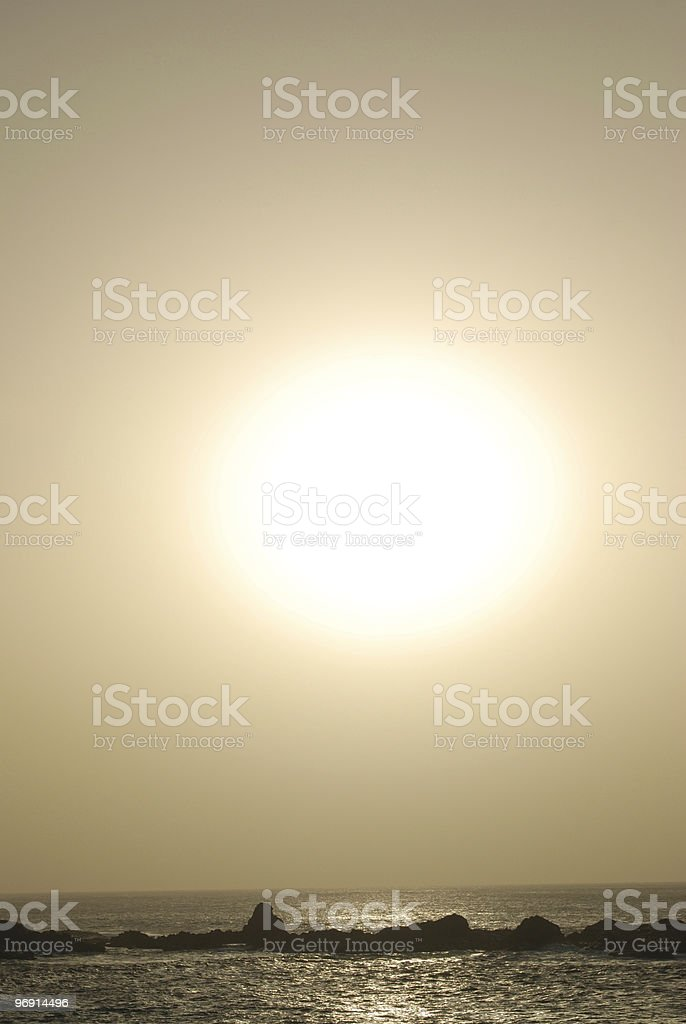 Ocean Sunset royalty-free stock photo
