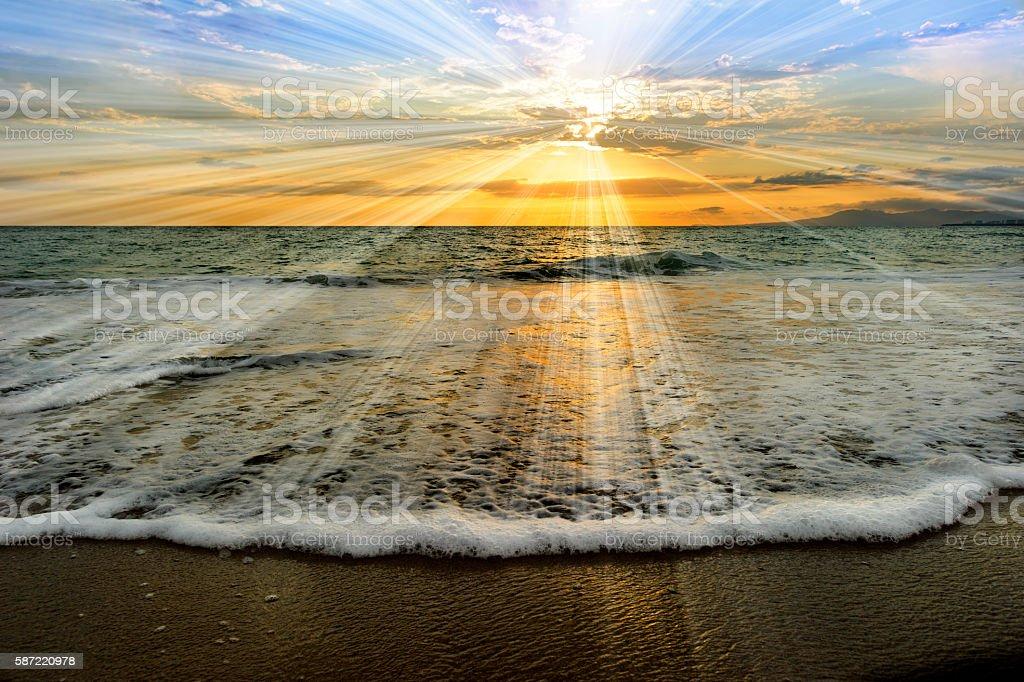Ocean Sunset Rays – Foto
