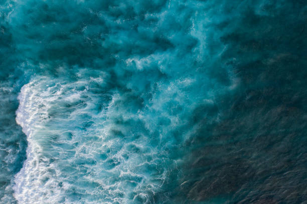 ocean surf from above - sea imagens e fotografias de stock