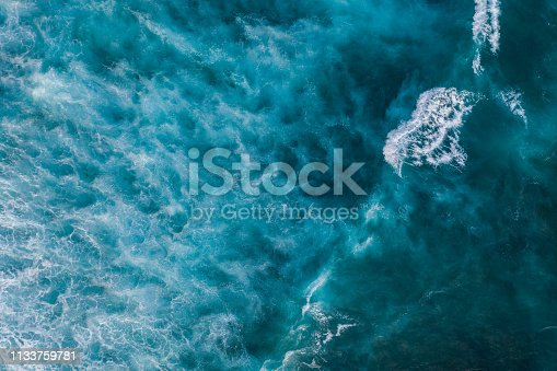 Water surface background. Aerial drone shot