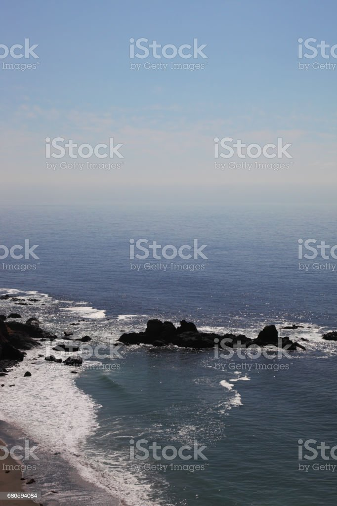 Ocean surf on the spectacular shores royalty-free stock photo