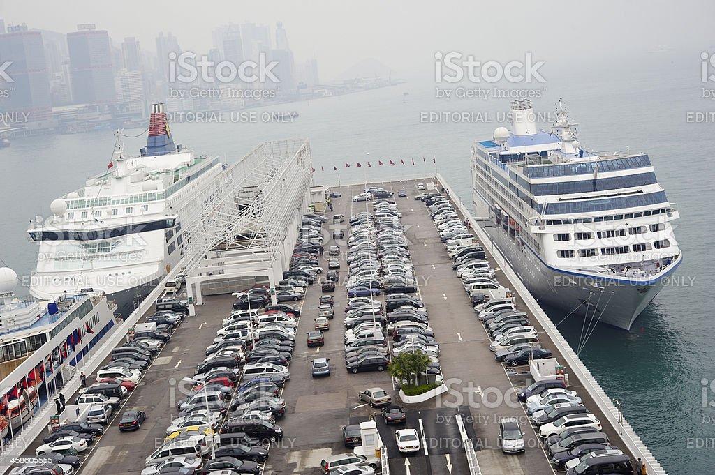 Ocean Terminal Dock in Hong Kong royalty-free stock photo