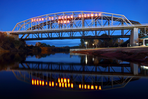 The Ocean To Ocean Bridge is a through truss bridge spanning the Colorado River in Yuma, Arizona. Built in 1915, it was the first highway crossing of the lower Colorado and is the earliest example of a through truss bridge in Arizona.