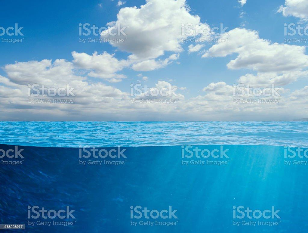 ocean underwater background stock photo