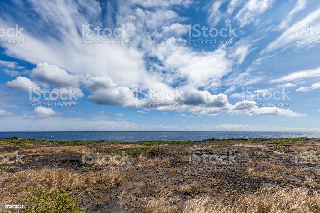 ocean view big island stock photo