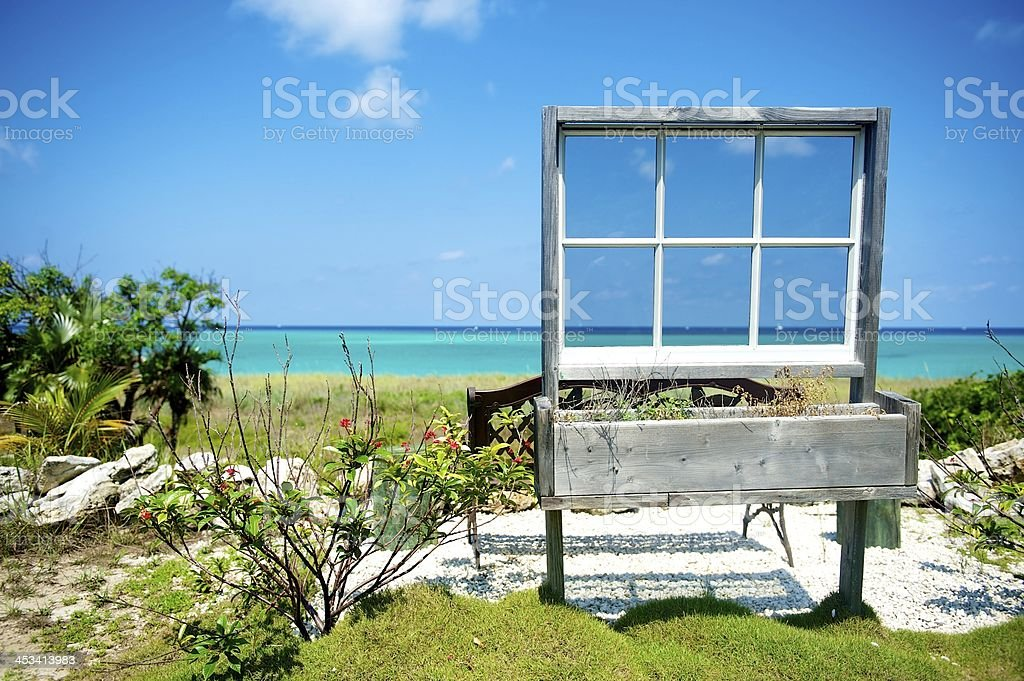 Ocean view in Bimini stock photo