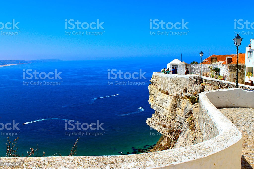 Ocean View in Nazare, Portugal stock photo