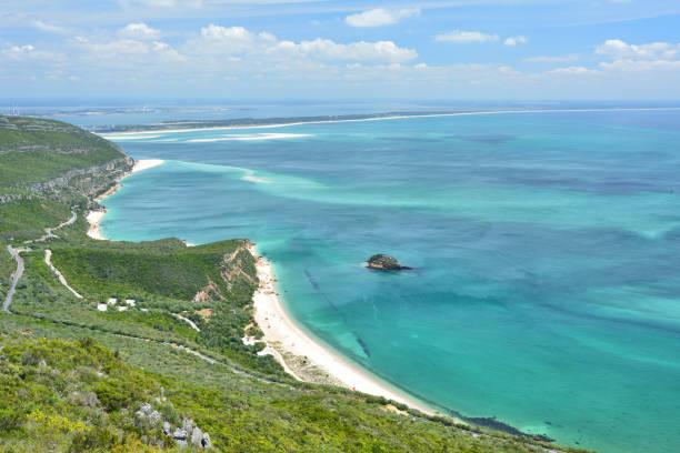 ocean view of portugal - setubal imagens e fotografias de stock