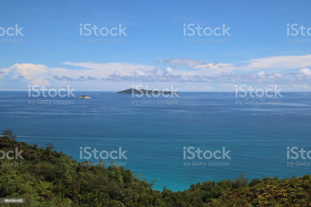 Ocean View to Aride Island, Praslin, Seychelles, Indian Ocean, Africa - Royalty-free Africa Stock Photo