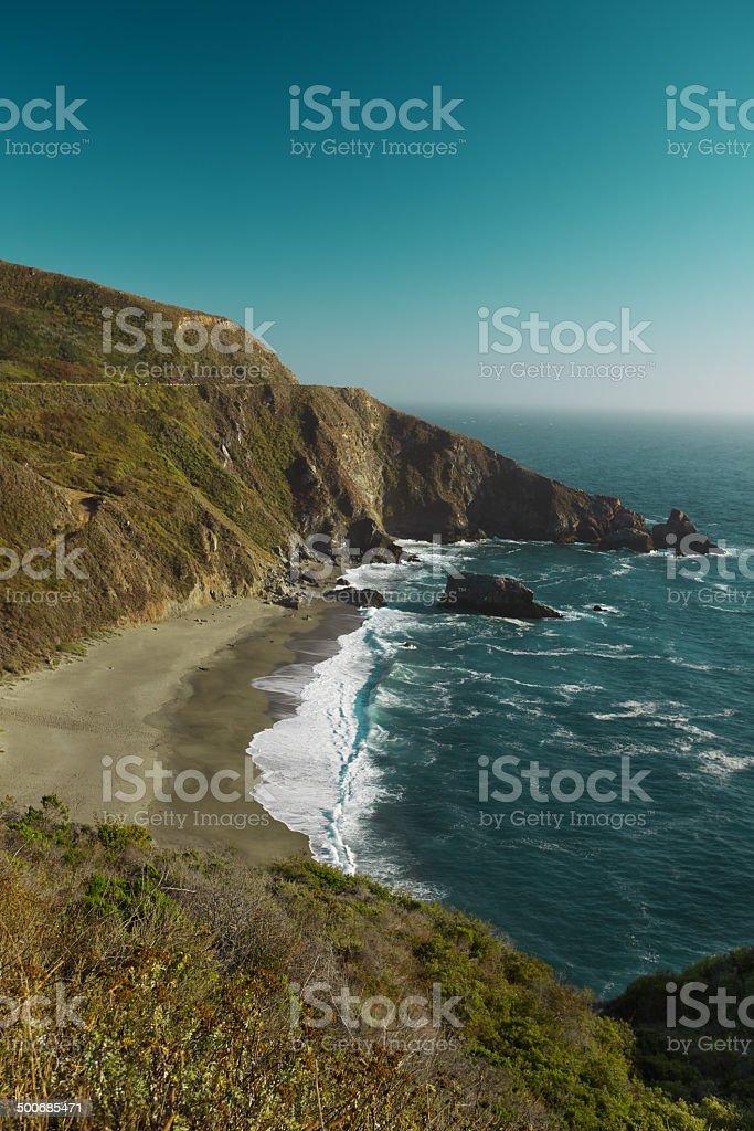 Ocean vista near Big Sur, California, USA royalty-free stock photo