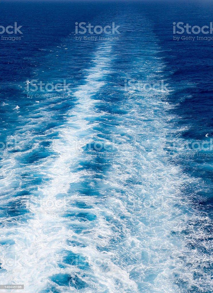 Ocean Wake royalty-free stock photo