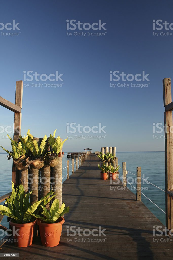 ocean walkway royalty-free stock photo