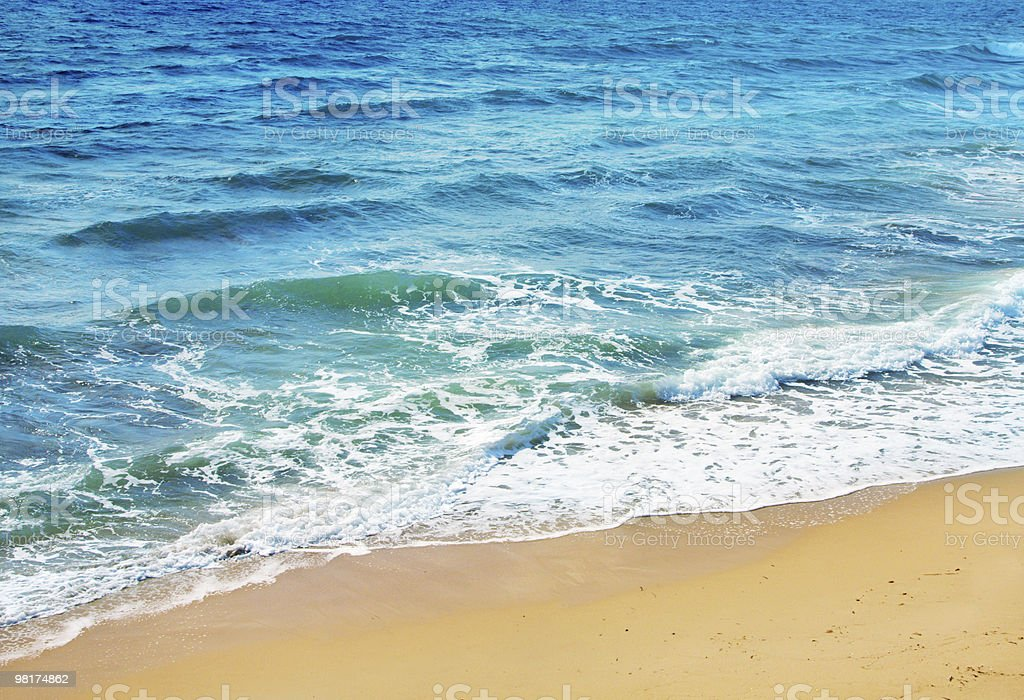 ocean wave and tropical beach royalty-free stock photo