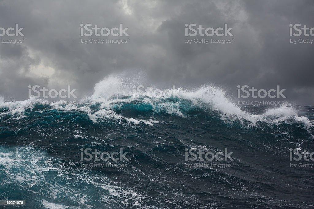 ocean wave during storm
