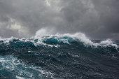 海の波にストーム