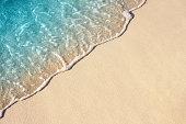 Ocean wave on sandy beach, background