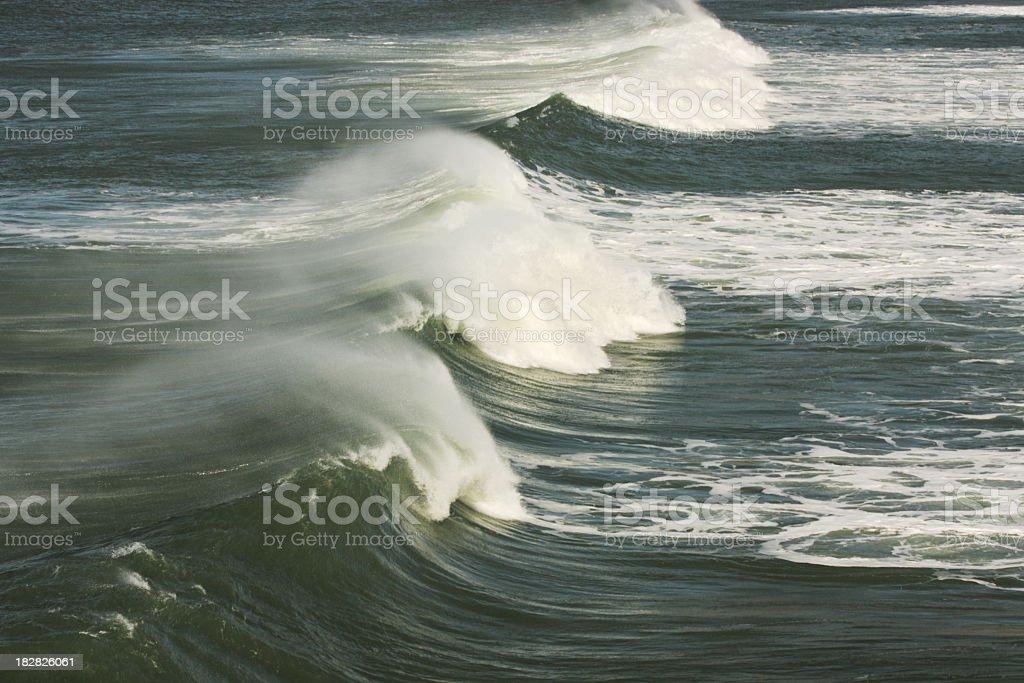 Ocean Wave Surf Spray royalty-free stock photo