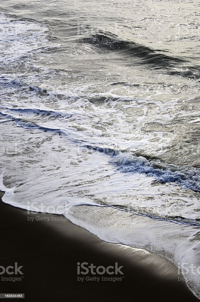 Ocean Waves Breaking Along San Francisco royalty-free stock photo