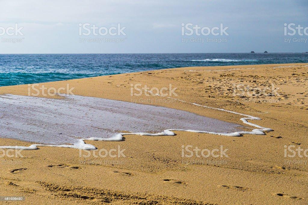 Ocean Waves in Garrapata State Beach in California stock photo