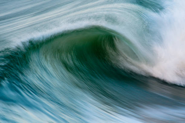 Ocean Waves in Motion stock photo