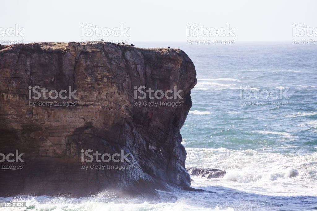 Ocean Waves on the Pacific Coast stock photo