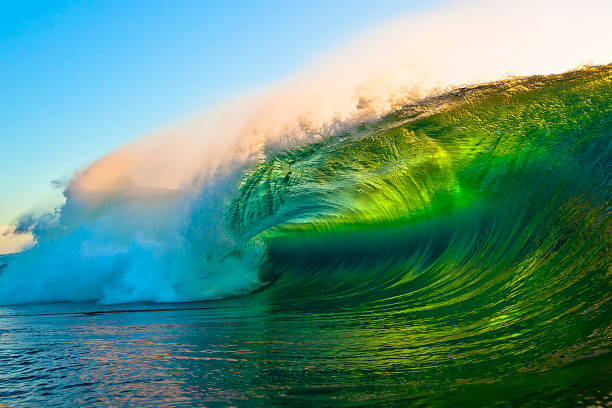 Ocean waves Ocean waves caught in slow motion saturated color stock pictures, royalty-free photos & images