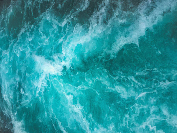 Ocean waves texture background stock photo