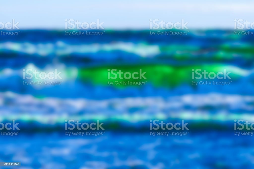 Ocean wawes - blurred image royalty-free stock photo