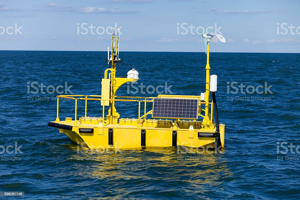 Ocean Weather Research Buoy - foto stock