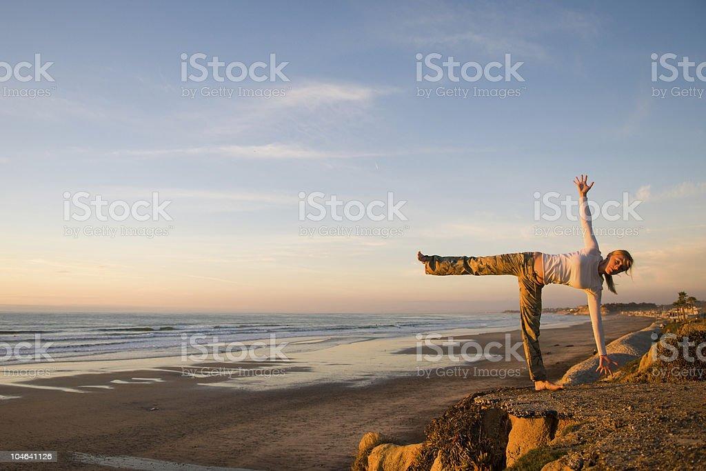 Ocean Yoga royalty-free stock photo