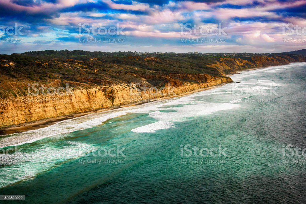 Oceanfront Cliffs of San Diego stock photo