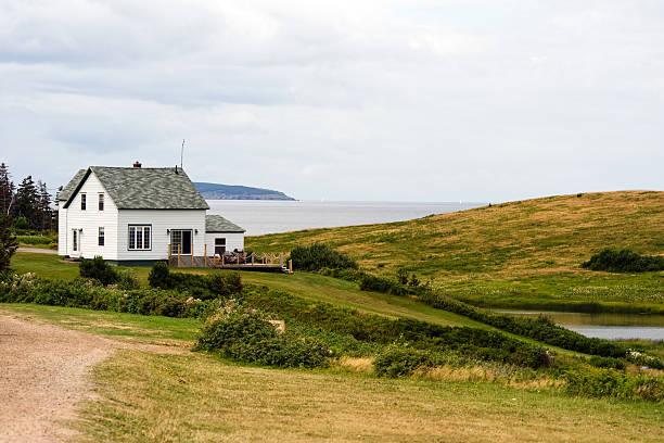 Oceanfront house stock photo