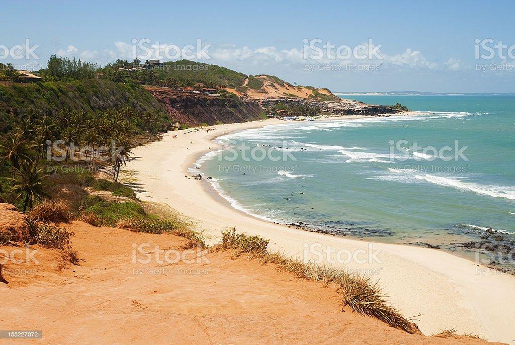 Oceanfront in Praia do Amor Brazil stock photo