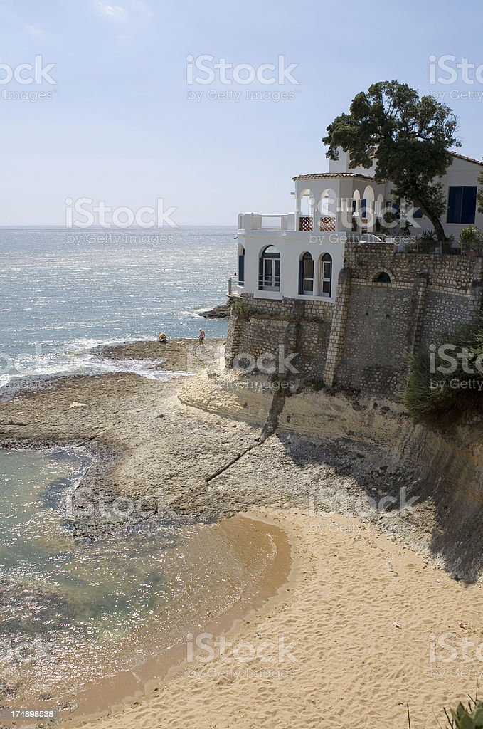 Oceanfront mansion 3 royalty-free stock photo