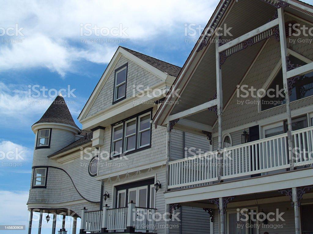 Oceanfront Victorian Properties in Ocean Grove, New Jersey stock photo