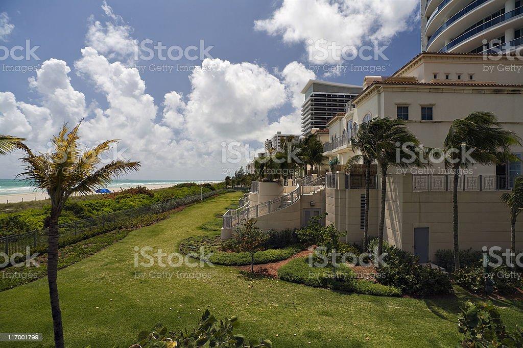 oceanfront villas (XL) royalty-free stock photo