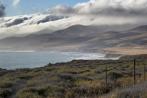 oceanscape central california, point conception - central coast california stock photos and pictures