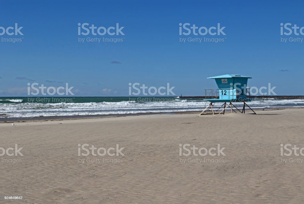 Oceanside beach stock photo