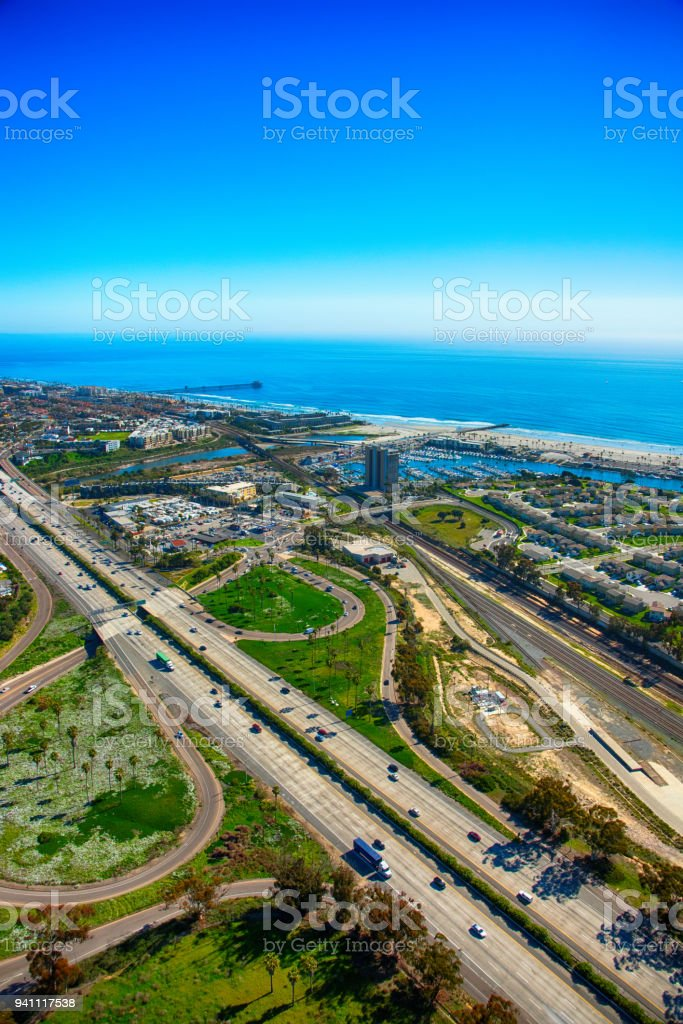 Oceanside California Aerial stock photo