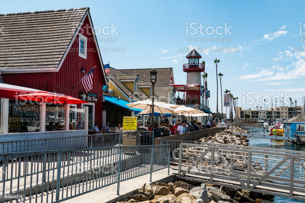Oceanside Harbor Village in San Diego County stock photo