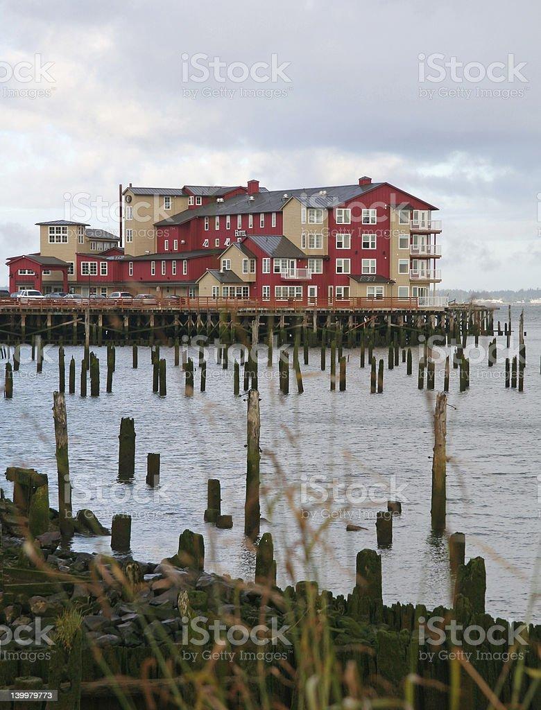 Oceanside hotel stock photo