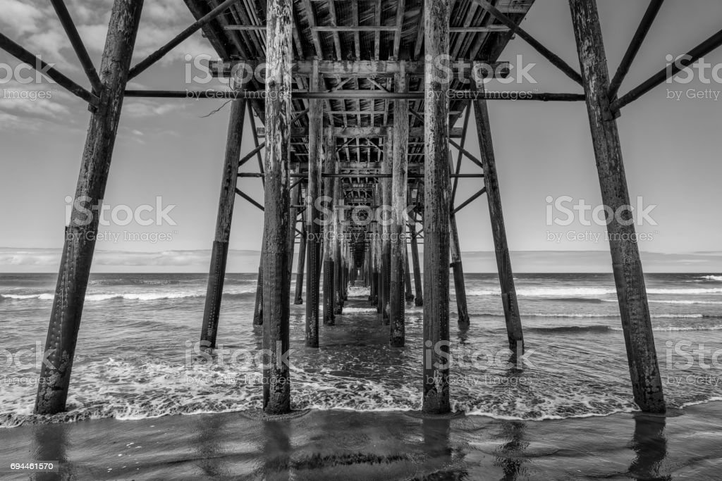 Oceanside (B&W) stock photo