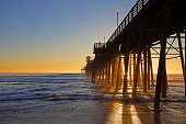 dusk at Oceanside Pier, Oceanside CA