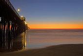 Dusk at Oceanside Pier, Oceanside CA