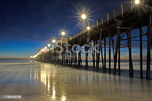 Oceanside,CA pier at sunset